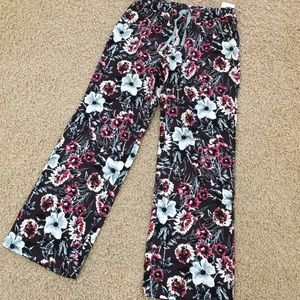 Floral pajamas pants